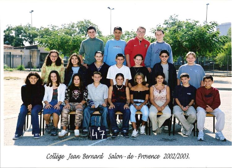 Photo de classe 4 me de 2002 coll ge jean bernard copains d 39 avant - Bernard philibert salon de provence ...