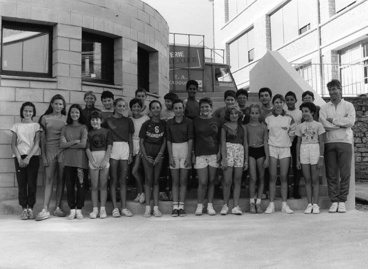 Photo de classe 5 me e 88 89 de 1988 coll ge du jardin des plantes copains d 39 avant - College du jardin des plantes ...