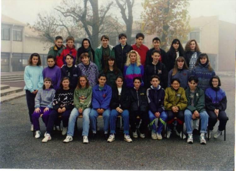 photo de classe 3 176 1 de 1992 coll 232 ge porte du m 233 doc copains d avant