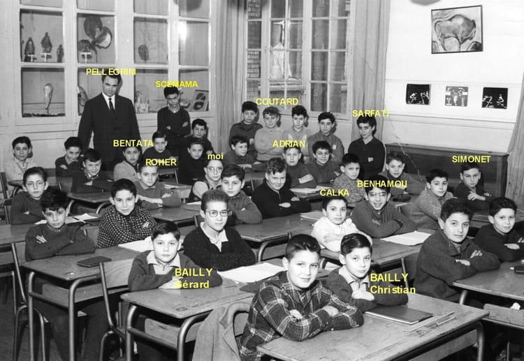 photo de classe 6 u00e8me ou 5 u00e8me de 1961  ceg rue des jeuneurs 75002 paris