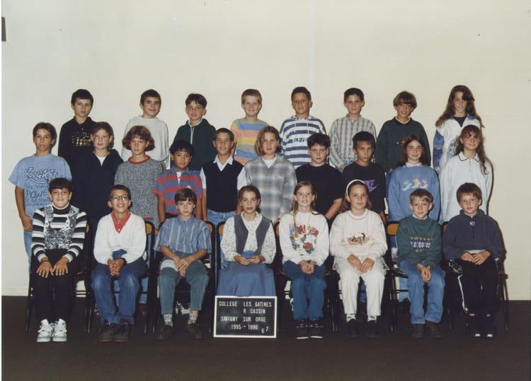 Photo de classe 6ème7 de 1996, Collège Les Gâtines - René