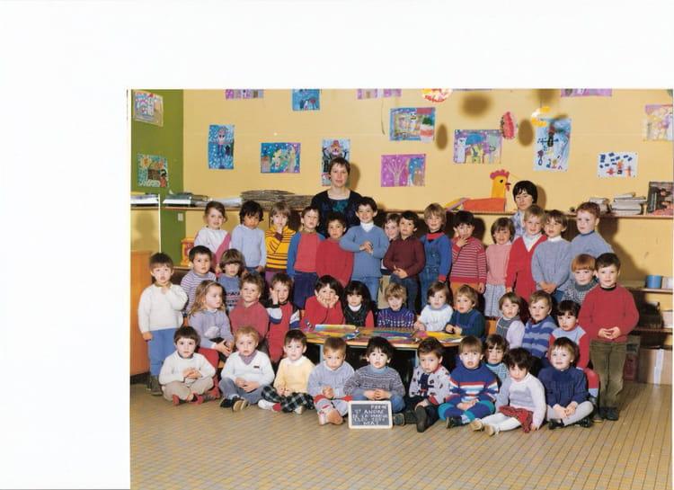 photo de classe maternelle de 1986 ecole les peupliers andre de la marche copains d avant