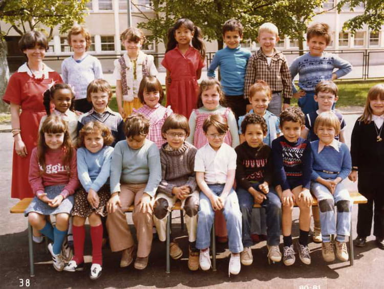 photo de classe cp de 1980 ecole maternelle la chapelle saint luc copains d 39 avant. Black Bedroom Furniture Sets. Home Design Ideas