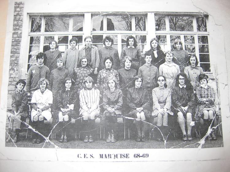 photo de classe ces marquise 68 69 de 1968 coll 232 ge jean rostand copains d avant