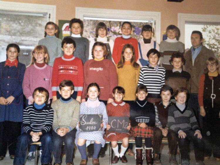 photo de classe cm2 de 1980 ecole primaire saulce sur rhone copains d 39 avant. Black Bedroom Furniture Sets. Home Design Ideas