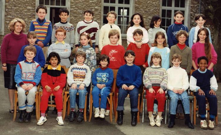 Photo de classe cm1 trie la ville de 1985 ecole primaire for Piscine trie chateau
