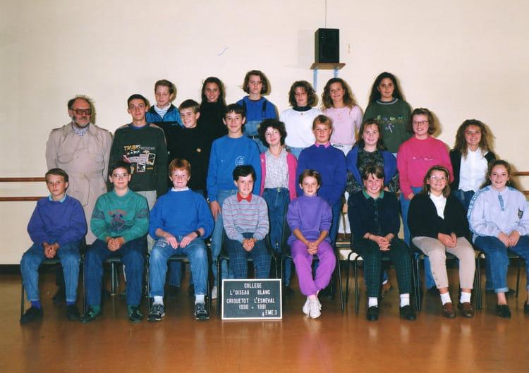 photo de classe 4 me 3 de 1991 coll ge l 39 oiseau blanc copains d 39 avant. Black Bedroom Furniture Sets. Home Design Ideas