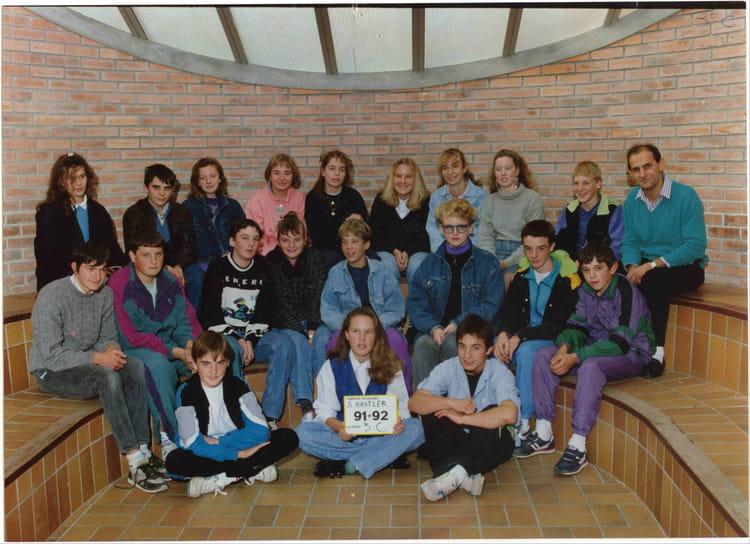Photo de classe 3 C de 1992, COLLEGE ALFRED KASTLER   Copains d u0026#39;avant