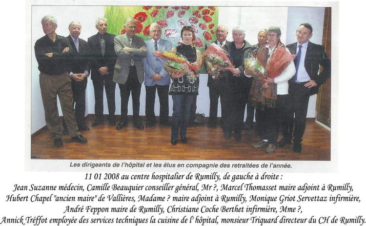 photo de classe 11  01  2008 voeux au centre hospitalier de rumilly et d u00e9parts en retraite de 2008