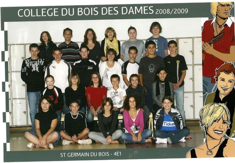 de classe 4ème1 de 2008, Collège Du Bois Des Dames  Copains davant ~ College Bois D Orceau