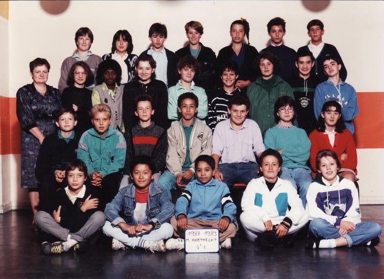 Photo de classe 4e3 de 1988, Collège Marcelin Berthelot - Copains d ...