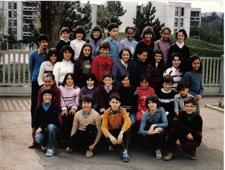 photo de classe cm2 de 1980 ecole louis pergaud sainte genevieve des bois copains d 39 avant. Black Bedroom Furniture Sets. Home Design Ideas