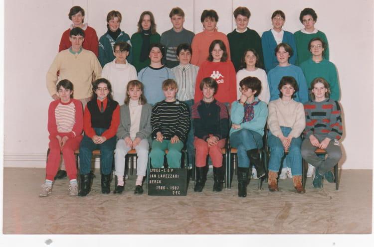 photo de classe 2 232 me c de 1986 lyc 233 e professionnel jean lavezzari copains d avant