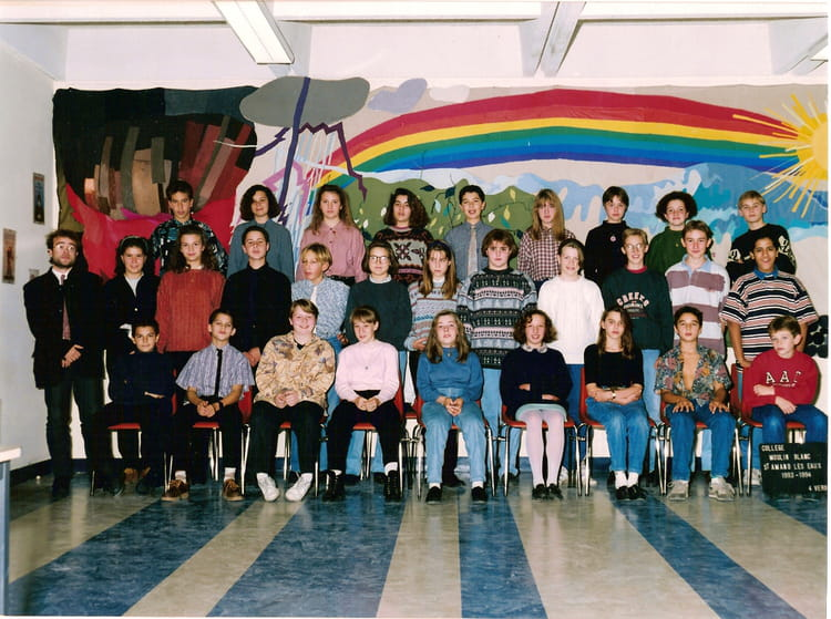 Photo de classe 4 me verdi de 1993 coll ge moulin blanc - Office du tourisme de saint amand les eaux ...