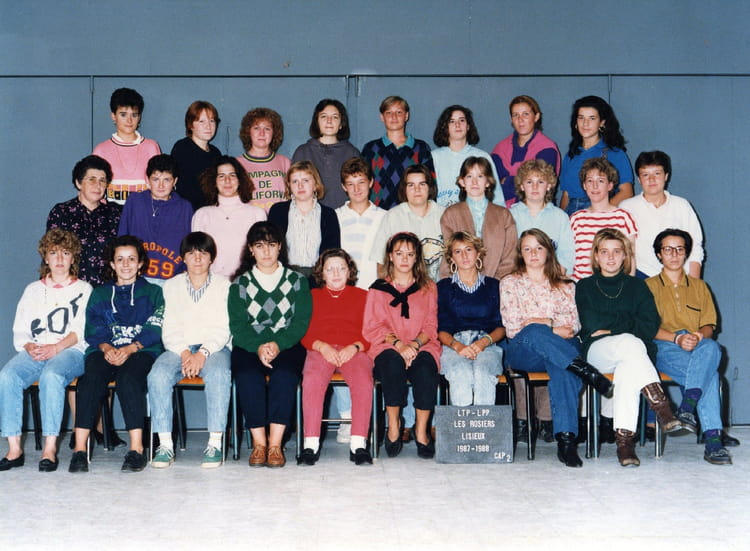 photo de classe cap 2 steno dactylo de 1987 lyc 233 e professionnel les rosiers copains d avant