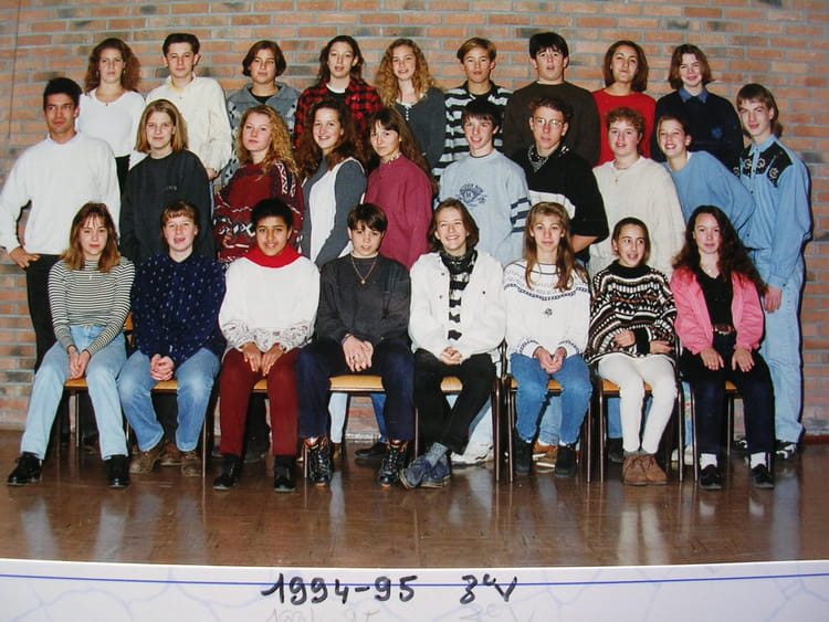 photo de classe 3ev clg f villon fauville en caux de 1994. Black Bedroom Furniture Sets. Home Design Ideas