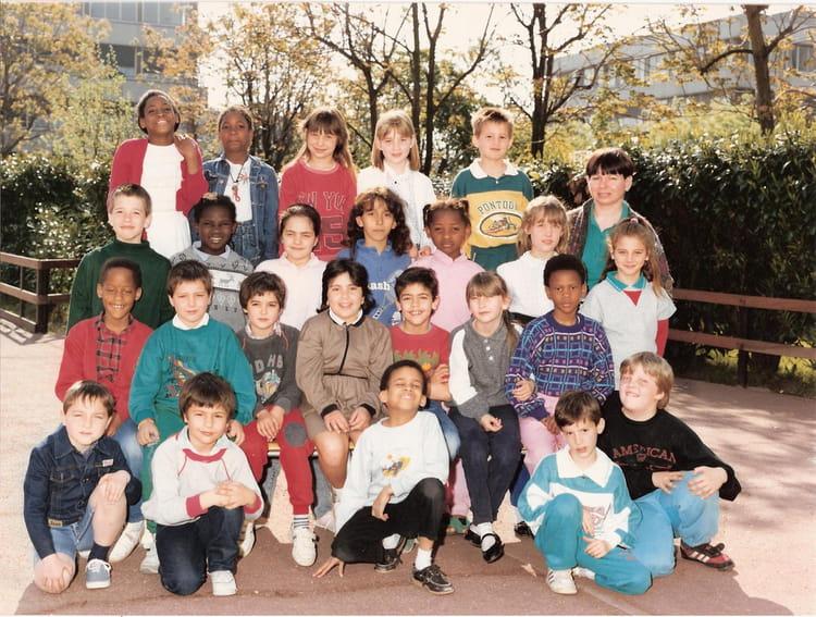 Photo de classe Ecole Primaire Henri Wallon B CE1 Année 1987 1988 FONTENAY SOUS BOIS de  # Auto Ecole Fontenay Sous Bois