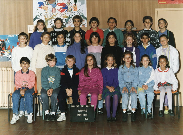 photo de classe 6 176 3 de 1989 coll 232 ge les chalets copains d avant