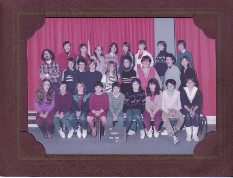 Photo de classe college de domerat 4 1 de 1983 coll ge for College domerat
