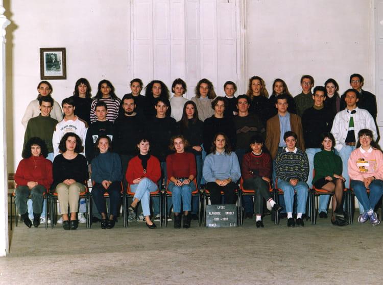 Photo de classe terminale 13 de 1992 lyc e alphonse for Lycee alphonse daudet