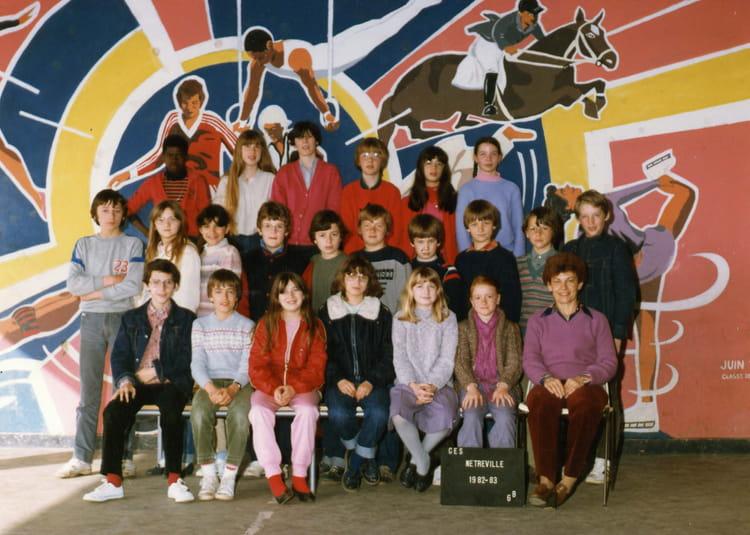 photo de classe 6eb de 1983  coll u00e8ge henri dunant