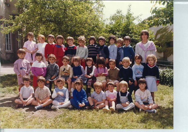 photo de classe maternelle de 1982 ecole notre dame bourgoin jallieu copains d 39 avant. Black Bedroom Furniture Sets. Home Design Ideas