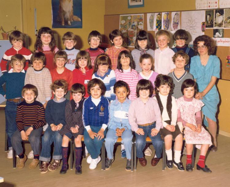photo de classe classe de cp brou sur chantereine de 1981 ecole romain rolland copains d 39 avant. Black Bedroom Furniture Sets. Home Design Ideas