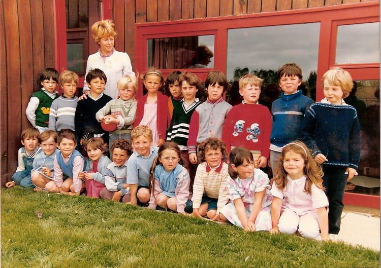 photo de classe maternel ploumagoar de 1985  ecole  ploumagoar