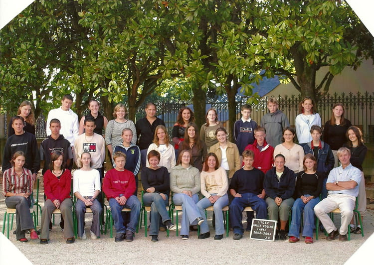 photo de classe 2nde e de 2004 lyc e haute follis