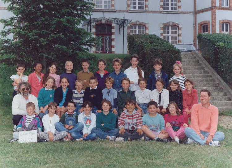 Photo de classe ce2 cm1 etampes sur marne de 1993 ecole u for Chateau etampes