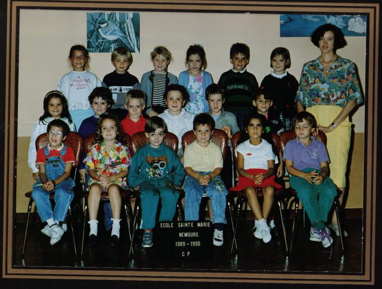 photo de classe cp de 1989 ecole sainte marie nemours copains d 39 avant. Black Bedroom Furniture Sets. Home Design Ideas