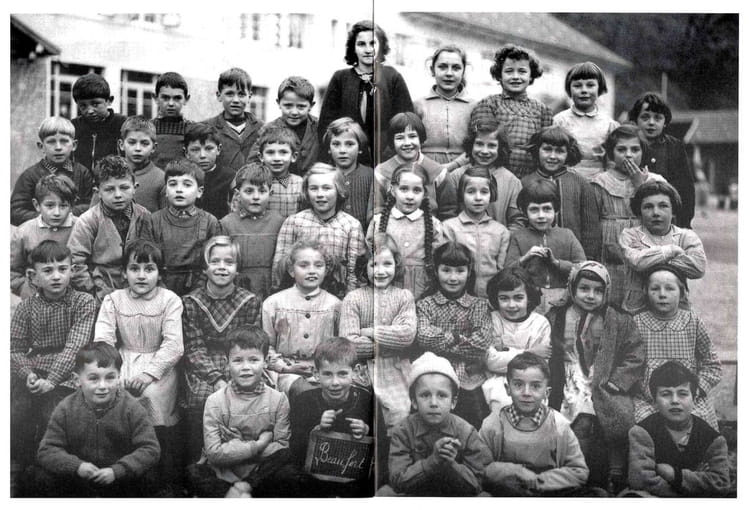 Photo de classe ce1 de 1956 ecole du capitaine bulle - Beaufort sur doron office du tourisme ...