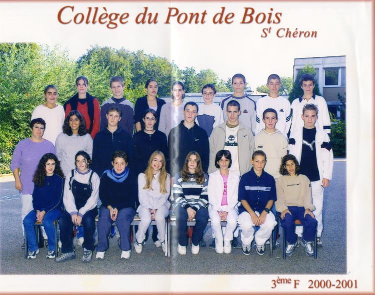 Photo de classe 3ème F de 2000, Collège Du Pont De Bois  Copains d  ~ College Du Bois D Orceau
