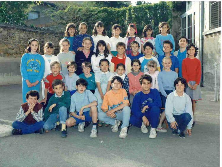 photo de classe cm1 st francois 1986 1987 de 1987 ecole francois d assise copains d avant
