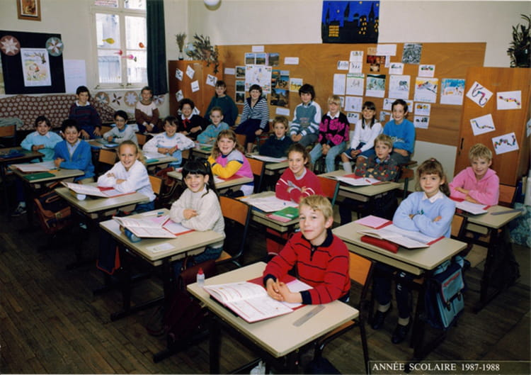 photo de classe de 1987 ecole communale de recey sur ource copains d 39 avant. Black Bedroom Furniture Sets. Home Design Ideas