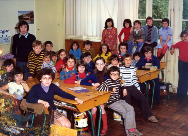 photo de classe cm1 de 1974 ecole les marsauderies copains d 39 avant. Black Bedroom Furniture Sets. Home Design Ideas