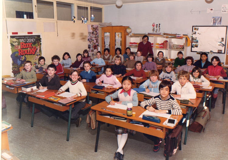 photo de classe classe de cm1 de 1981 ecole point du jour alencon copains d 39 avant. Black Bedroom Furniture Sets. Home Design Ideas