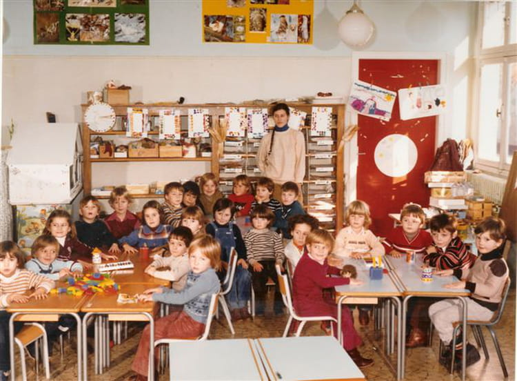 photo de classe maternelle grande section de 1980 ecole carnot la chapelle la reine copains. Black Bedroom Furniture Sets. Home Design Ideas