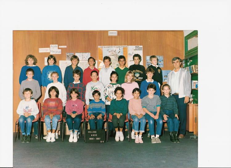 photo de classe 6eme5 de 1986 coll ge ren cassin copains d 39 avant. Black Bedroom Furniture Sets. Home Design Ideas