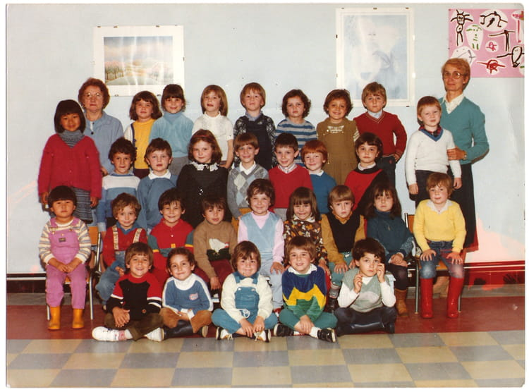 photo de classe moyenne section de maternelle de 1983 ecole saint jean des vignes chalon sur. Black Bedroom Furniture Sets. Home Design Ideas