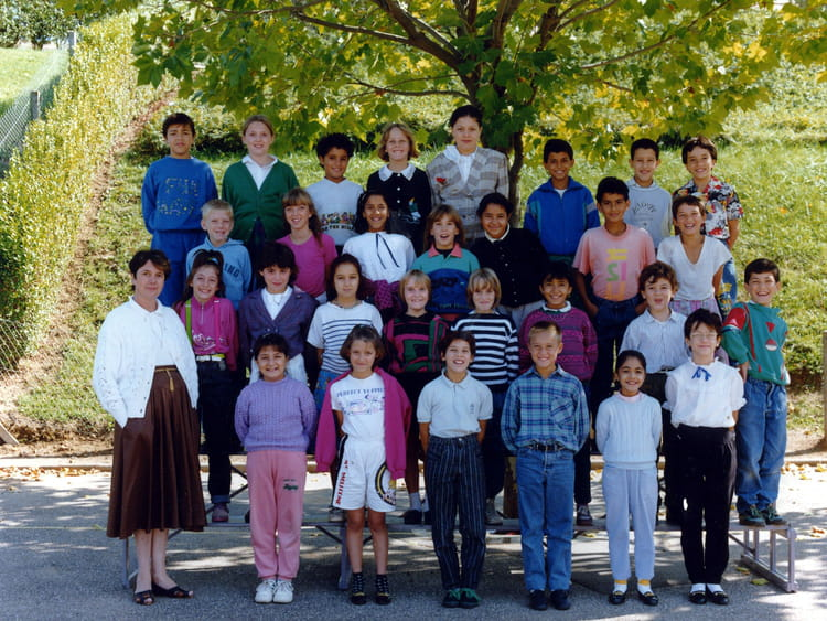 photo de classe classe de cm1 de 1990 ecole jacques prevert villefranche sur saone copains. Black Bedroom Furniture Sets. Home Design Ideas