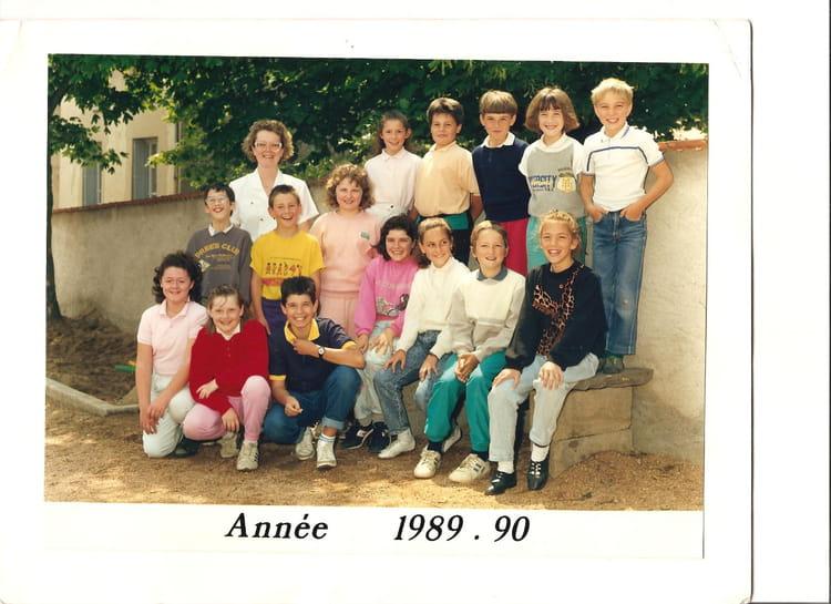 Photo De Classe Cm2 De 1990 Ecole Rue Bel Air Saint Just La Pendue