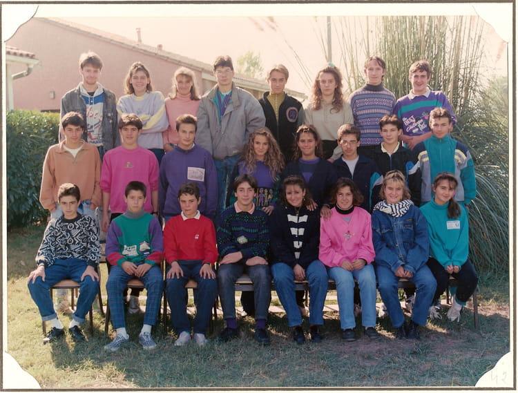 photo de classe 3eme de 1989 coll 232 ge porte du m 233 doc copains d avant