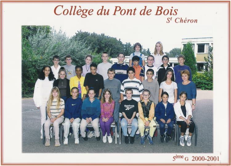 de classe 5eme G de 2000, Collège Du Pont De Bois  Copains davant ~ College Bois D Orceau