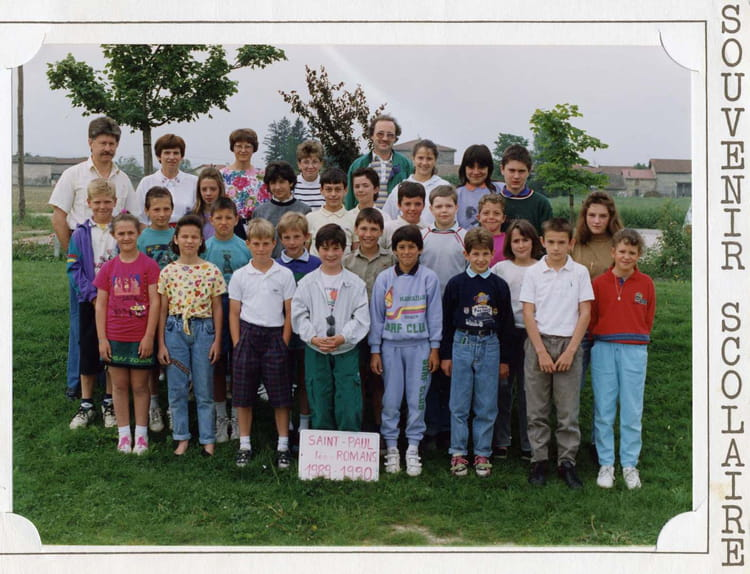 photo de classe cm2 de 1989 ecole les grieux saint paul les romans copains d 39 avant. Black Bedroom Furniture Sets. Home Design Ideas