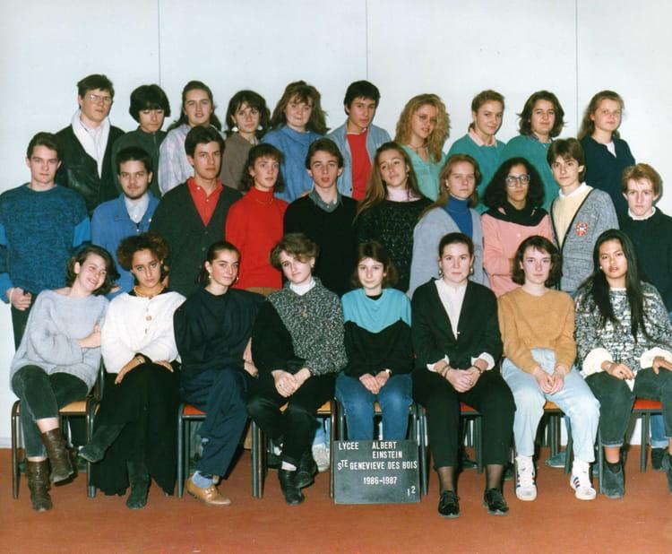 photo de classe 1 re2 de 1986 lyc e albert einstein copains d 39 avant. Black Bedroom Furniture Sets. Home Design Ideas