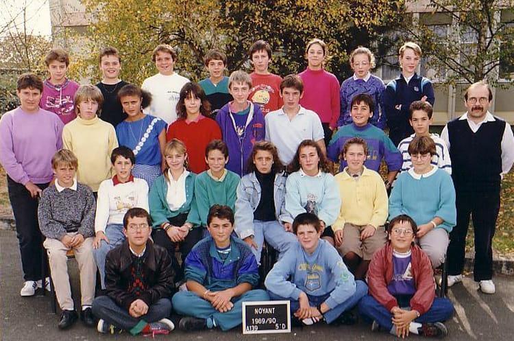 photo de classe cinqui 232 me d de 1990 coll 232 ge porte d anjou copains d avant