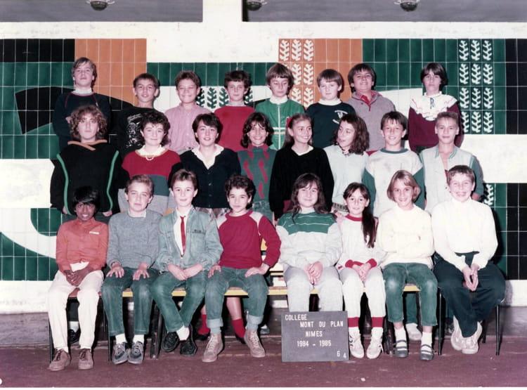 photo de classe 6eme 4 de 1984 coll 232 ge mont duplan