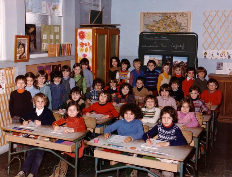 Photo de classe CE1 de Mme COMBECAVE de 1980, Ecole Romain Rolland (Sainte Genevieve Des Bois  # Auto Ecole Sainte Genevieve Des Bois