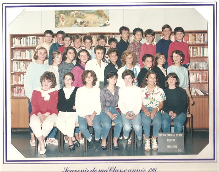 Photo de classe 3ème 3 collège bois damour de 1985, LE  ~ College Bois D Amour Billere